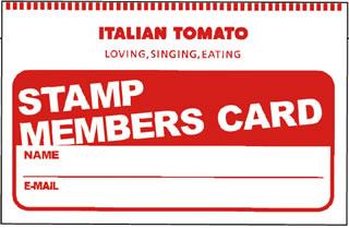 イタリアントマト STAMP MEMBERS CARD